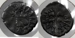 World Coins - SPAIN: Valencia illegible (1667-1699) Charles II Dinero