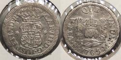 World Coins - MEXICO: 1765-Mo 1/2 Real