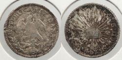 World Coins - MEXICO: 1847-Mo RC 1/2 Real