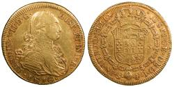 World Coins - CHILE Ferdinand VII 1816-So FJ 8 Escudos EF