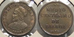 World Coins - PANAMA: 1907 1/2 Centesimo