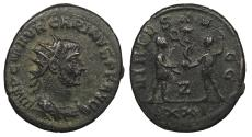 Ancient Coins - Carinus 283-285 A.D. Antoninianus Antioch Mint VF Ex. Sol Goldman collection with handwritten ticket.