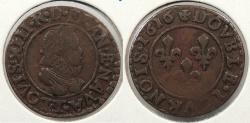 World Coins - FRANCE: 1616-T Double Tournois