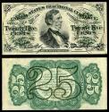 Us Coins - Treasury Department 3 March 1863 25 Cents AU/UNC