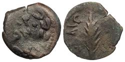 Ancient Coins - Judaea Roman Procurators Porcius Festus, under Nero 59-62 A.D. Prutah Fine