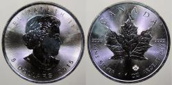 World Coins - CANADA: 2015 1 Oz. Maple Leaf .999 5 Dollars