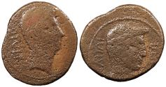 Ancient Coins - Octavian 43-27 B.C. Dupondius (?) Southern Italian mint (?) Fair