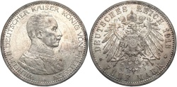 World Coins - GERMANY: Prussia Wilhelm II 1913 A 5 Mark