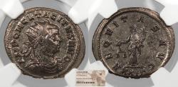 Ancient Coins - Tacitus 275-276 A.D. Antoninianus Rome Mint NGC EF