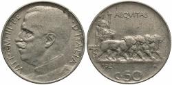 World Coins - ITALY: 1921-R 50 Centesimi