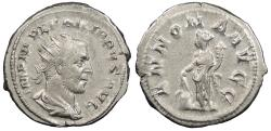 Ancient Coins - Philip I 244-249 A.D. Antoninianus Rome Mint Good VF Ex Kenneth Brattlie Collection, includes ticket.