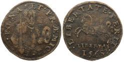 World Coins - SPAIN 1568 AE 29mm Jeton Rechenpfennig EF