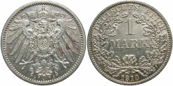 World Coins - GERMANY: 1910-A 1 Mark