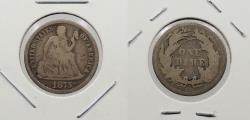 Us Coins - 1875-CC Seated Liberty 10 Cents (Dime)