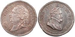 World Coins - FRANCE By Eug. Dubois ND (Ca. 1815) AR 18mm medalet Choice AU