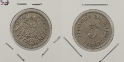 World Coins - GERMANY: 1903-J 5 Pfennig