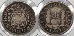 World Coins - BOLIVIA: 1767-Potosi JR Charles III Real