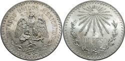 World Coins - MEXICO: 1938 1 peso