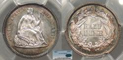 Us Coins - 1862 Seated Liberty 5 Cent (Silver) PCGS MS-65