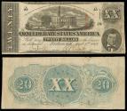 Us Coins - Richmond, VA Apr 6, 1863 20 Dollars VF
