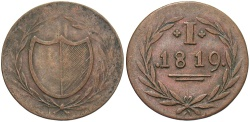 World Coins - GERMANY: Frankfurt 1819 1 Pfennig Token