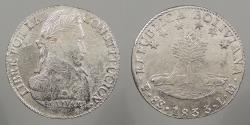 World Coins - BOLIVIA: 1833-Potosi LM 8 Soles