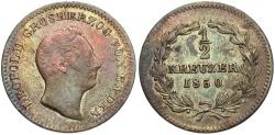 World Coins - GERMANY: Baden 1850 1/2 Kreuzer