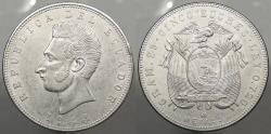 World Coins - ECUADOR: 1944-Mo 5 Sucres
