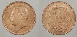 World Coins - PORTUGAL: 1885 20 Reis