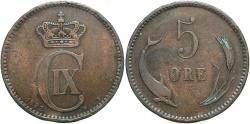 World Coins - DENMARK: 1882 5 Ore