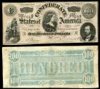 Us Coins - Richmond, VA Feb 17, 1864 100 Dollars VF+