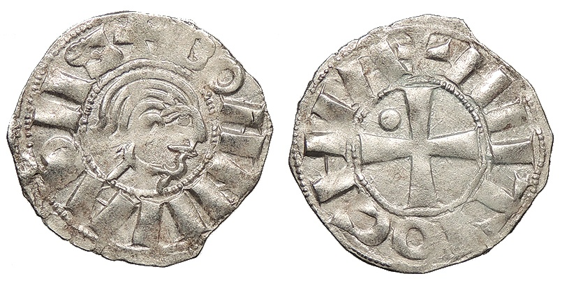 World Coins - CRUSADERS Bohemund III, Minority 1149-1163 Denier EF