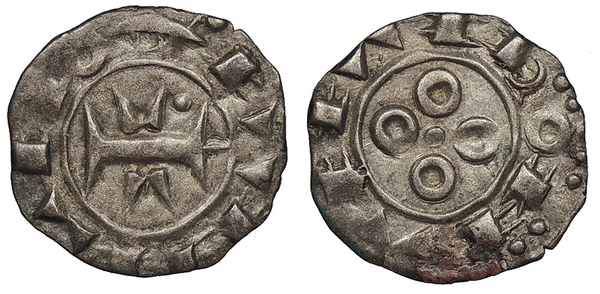 World Coins - FRANCE Languedoc County of Melgueil Anonymous, in name of Raymond 12th-13th Centuries AD Obol (Obole) EF