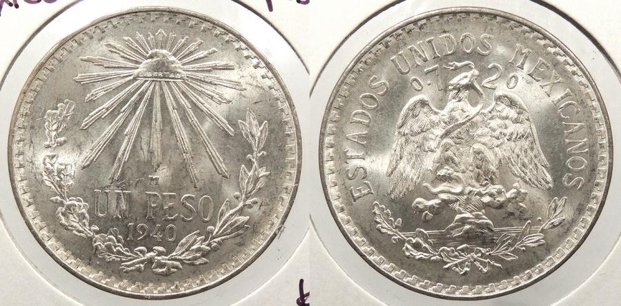 World Coins - MEXICO: 1940-M Peso
