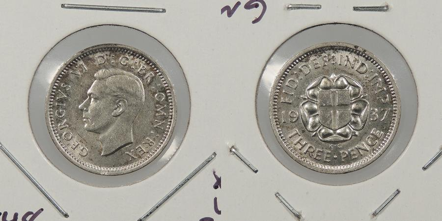 World Coins - GREAT BRITAIN: 1937 Threepence