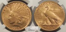 Us Coins - 1916 S Indian Head 10 Dollars NGC AU-58