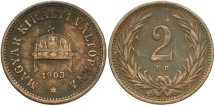 World Coins - HUNGARY: 1903-KB 2 Filler