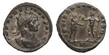 Ancient Coins - Aurelian 270-275 A.D. Antoninianus Siscia Mint EF