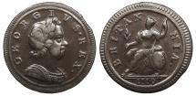 World Coins - GREAT BRITAIN George I 1719 Halfpenny Near EF