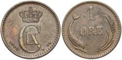 World Coins - DENMARK: 1880 1 Ore