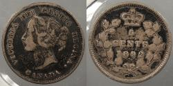 World Coins - CANADA: 1892 Victoria 5 Cents