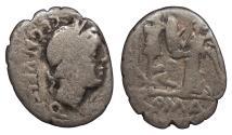 Ancient Coins - C. Egnatuleius C.f. 97 B.C. Quinarius Rome Mint About Fine