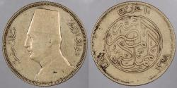 World Coins - EGYPT: AH 1348 (1929) 10 Piastres