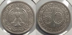 World Coins - GERMANY: Weimar Republic 1936-E 50 Pfennig