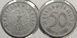 World Coins - GERMANY: Third Reich 1940-G 50 Pfennig