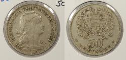 World Coins - PORTUGAL: 1927 50 Centavos