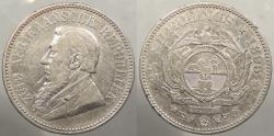 World Coins - SOUTH AFRICA: Republic 1895 2 1/2 Schilling (Halfcrown)
