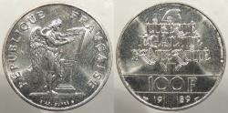 World Coins - FRANCE: 1989 Human Rights. 100 Francs