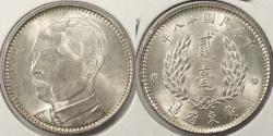 World Coins - CHINA: Kwangtung Yr. 18 (1929) 20 Cents #WC63892