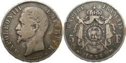 World Coins - FRANCE: 1856 BB 5 Francs